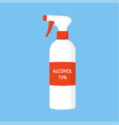Disinfectant spray or antiseptic bottle spray can vector
