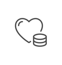 donation line icon vector image