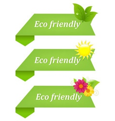 Eco friendly ribbons vector
