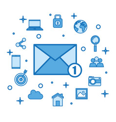 Email receiving messages new mail inbox internet vector