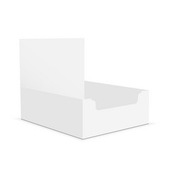 Empty cardboard display box mockup vector