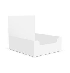 empty cardboard display box mockup vector image
