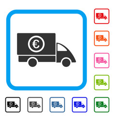 euro delivery framed icon vector image