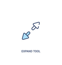 Expand tool concept 2 colored icon simple line vector