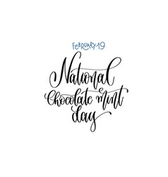 February 19 - national chocolate mint day - han vector