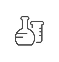 flask line icon vector image