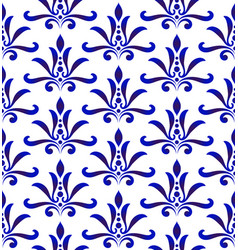 Floral pattern damask style vector