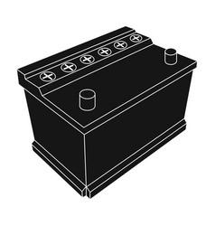 for automobile batterycar single icon in black vector image