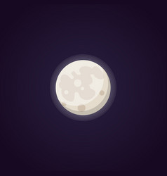 Full moon isolated in cartoon vector