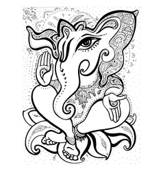 Ganesha Hand drawn vector