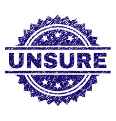 Grunge textured unsure stamp seal vector