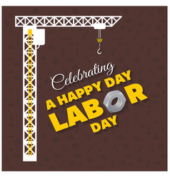 Happy labor day typography hanging with vector