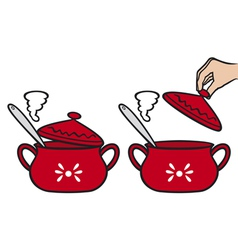 home kitchen pot vector image