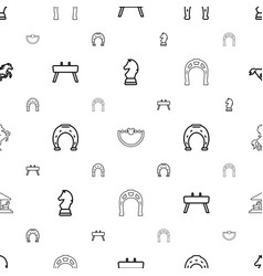 horse icons pattern seamless white background vector image