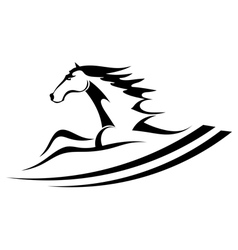 Horse tattoo symbol vector