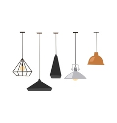 Lamps isolated vector