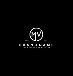 Letter mv logo design vector