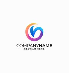 letter v color concept design template vector image