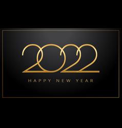 luxury 2022 happy new year elegant design vector image