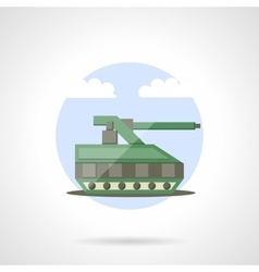 Military tank flat color icon vector