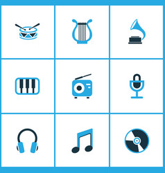 Music colored icons set collection of microphone vector