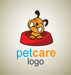 pet care logo 3 vector image