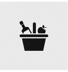 Picnic basket icon simple vector