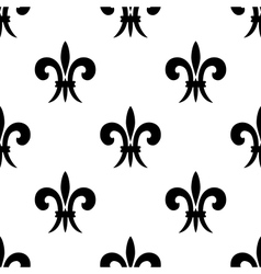 Repeat seamless pattern of fleur de lys vector image