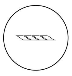Rope icon black color simple image vector
