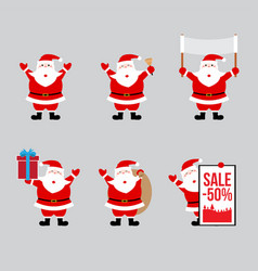 santa claus flat design style vector image