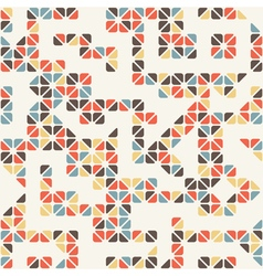 seamless abstract pattern colored triangle vector image