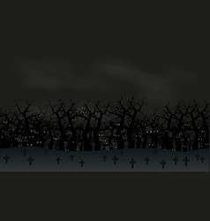 seamless halloween poster background foggy landsc vector image