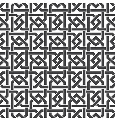 Seamless pattern of intersecting hexagonal braces vector