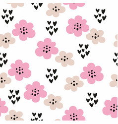 seamless pattern with stylized flowers decorative vector image
