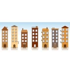 seven buildings vector image