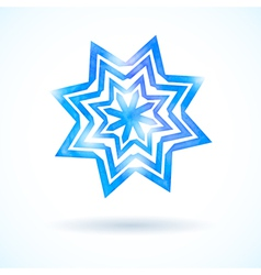 Shining watercolor snowflake vector image