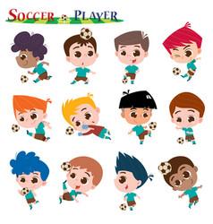 soccer plyer vector image