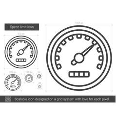 Speed limit line icon vector