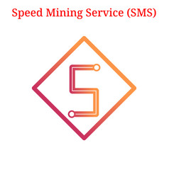 Speed mining service sms logo vector