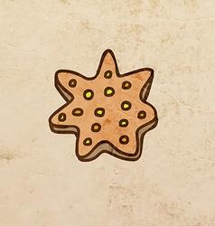Star Cookie Cartoon vector