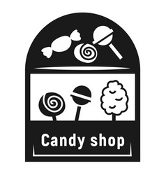 Street candy shop icon simple style vector