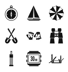 Transition period icons set simple style vector