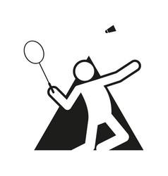 Triangle shape block badminton sport figure vector
