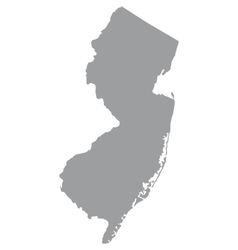 Us state new jersey vector