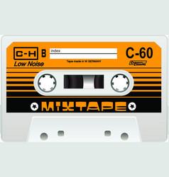 Vintage cassette 70s inspired vector