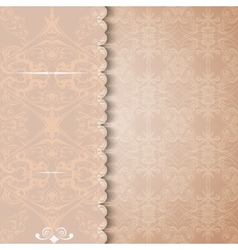 Vintage invitation or greeting card with a lace vector image