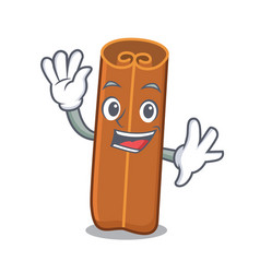 waving cinnamon character cartoon style vector image
