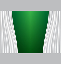 White curtain on green design background vector