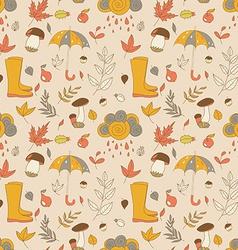 Autumn pattern Seamless texture with autumn vector image