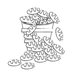 bread bucket religion catholic symbol sketch vector image vector image